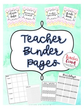 Teacher Binder-- Great for Small Group/Departmentalized/Class Dojo Classrooms!
