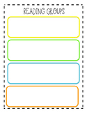 Teacher Binder Guided Reading Group Template