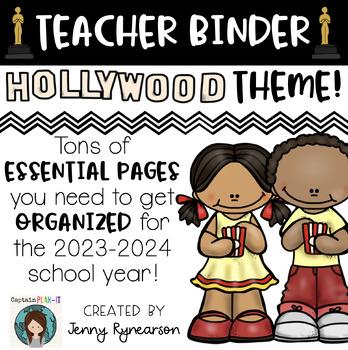 Teacher Binder! Hollywood Theme! Get ORGANIZED for the 2017-2018 School Year!!!