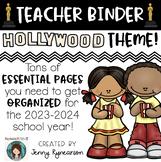 Teacher Binder! Hollywood Theme! Get ORGANIZED for the 2018-2019 School Year!!!