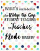Teacher Binder Editable Classroom Labels, Binder Covers, planner page {Editable}