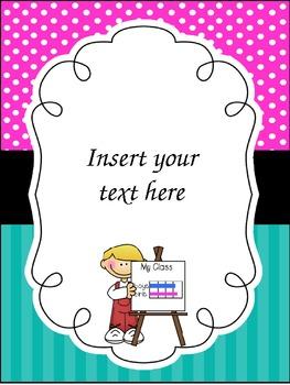 "Teacher Binder ""Insert Pages"" (editable freebie!)"