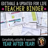 Teacher Planner Binder Bundle Editable & Updated for Life