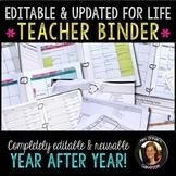 Teacher Planner Binder Bundle Editable & Updated for Life