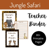 "Teacher Binder- ""Jungle Safari"" Theme"