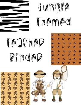 Teacher Binder (Jungle Theme)