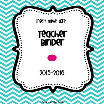 Teacher Binder Kit: Ready To Use Chevron Printables to Keep You Organized