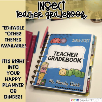 Teacher Binder Labels- EDITABLE- Insect Theme