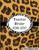 Teacher Binder - Leopard Themed Organization