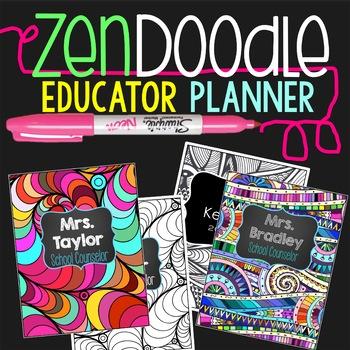 Teacher Planner 2017-2018 Zen Doodle