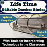Editable Teacher Binder 2019-2020 with tools for integrating technology