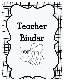 Teacher Binder- Middle School Level