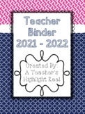 Teacher Binder - Mission Organization Navy & Pink