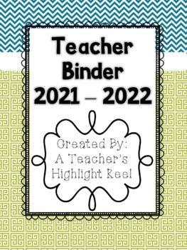 Teacher Binder - Mission Organization Teal & Green