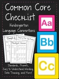 K Common Core Made Easy! Checklist, Easy to Understand, Prompts, Data Tracking!