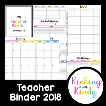 Teacher Binder | Organiser & Planner