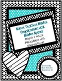 Teacher Binder Organization - Black and White Polka Dots B
