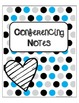 Teacher Binder Organization -Blue,Black, and Gray LARGE Polka Dots with Spines