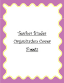 Teacher Binder Organization Cover Sheets