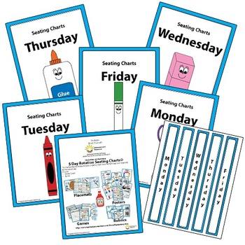 5 Day Teacher Binder Organization labels For 3 Ring Binder Bundle Free!