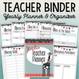 TEACHER BINDER Yearly Planner and Organizer