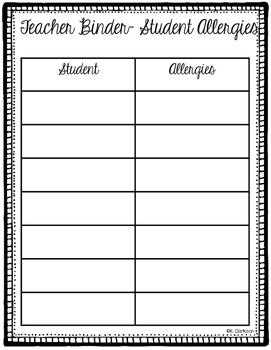 Teacher Binder- Organizational Documents!