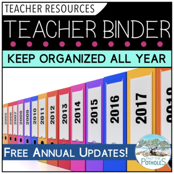 Teacher Binder - Organize your Professional Files