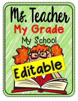 EDITABLE Teacher Binder - and organized