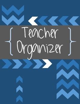 Teacher Binder Organizer [Blue Chevron Theme]
