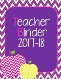 Teacher Binder Organizer