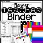 Bright, Rainbow Design Teacher Binder
