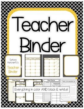 Teacher Binder Organizer Printables