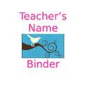 Teacher Binder Organizers