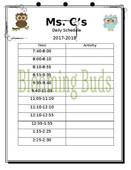 Teacher Binder Owl Theme