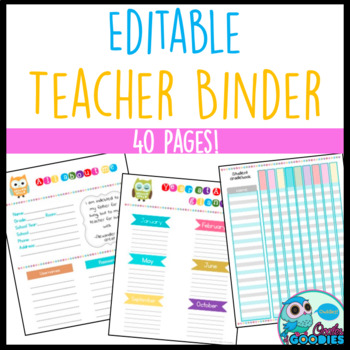 Teacher Binder Owl Themed