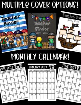Teacher Binder! PIRATE Theme! Get ORGANIZED for the 2017-2018 School Year!!!
