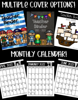 Teacher Binder! PIRATE Theme! Get ORGANIZED for the 2018-2019 School Year!!!
