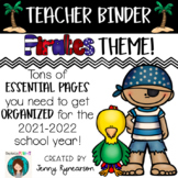 Teacher Binder! PIRATE Theme! Get ORGANIZED for the 2019-2020 School Year!!!