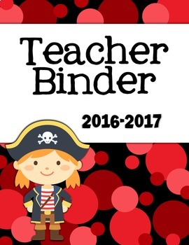 Teacher Binder Pack with Covers and Planning Pages - Pirate
