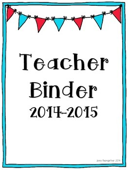 Teacher Binder Pages *Pennant Flags*