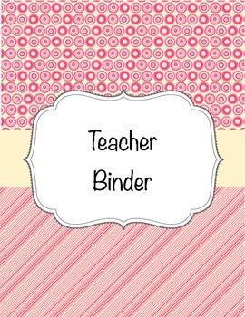 Teacher Binder - Pink