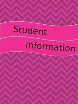 Teacher Binder Pink Polka Dots