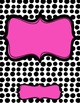 Teacher Binder Pink and Black