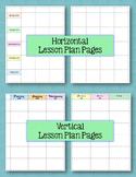 Teacher Binder Plan Book Pages