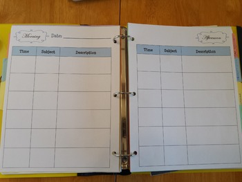 Teacher Binder Plan Book Day Plan *Growing resource
