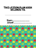 "Editable Teacher Binder and Lesson Plan Book (ECSE)- ""Scho"
