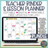Teacher Binder & Lesson Planner Bundle