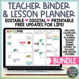 Teacher Binder & Lesson Planner Bundle