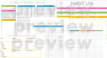 Teacher Binder/Planner Inserts (BRIGHTS Edition)