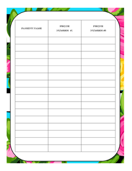 Teacher Binder Planner - Organization Tool